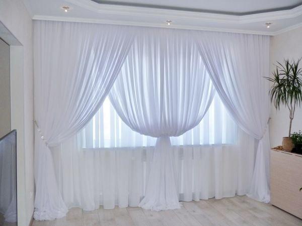 Тюли для зала без штор
