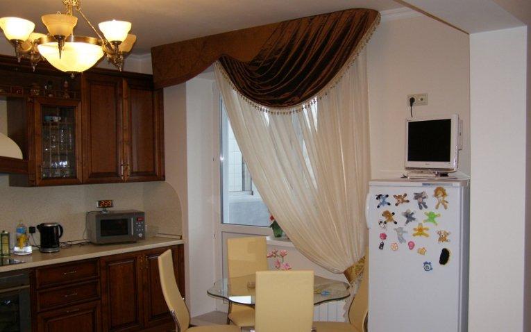 образец штор на кухне