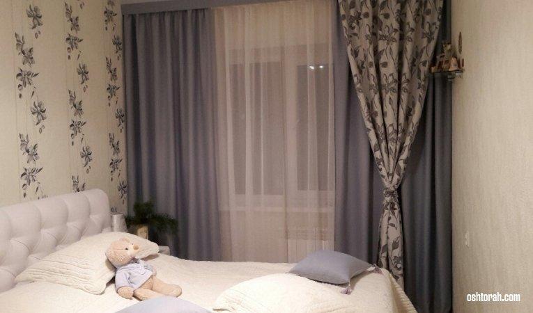 Дизайн штор в спальню фото картинки