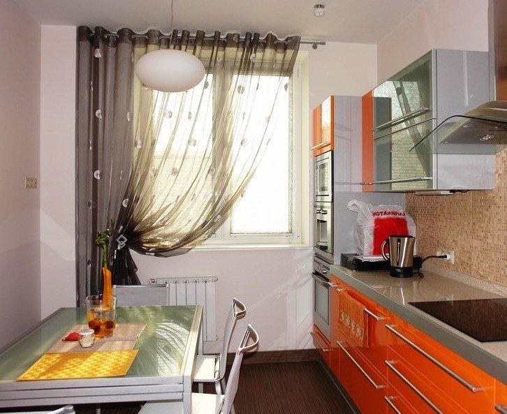Кухня дизайн занавесок