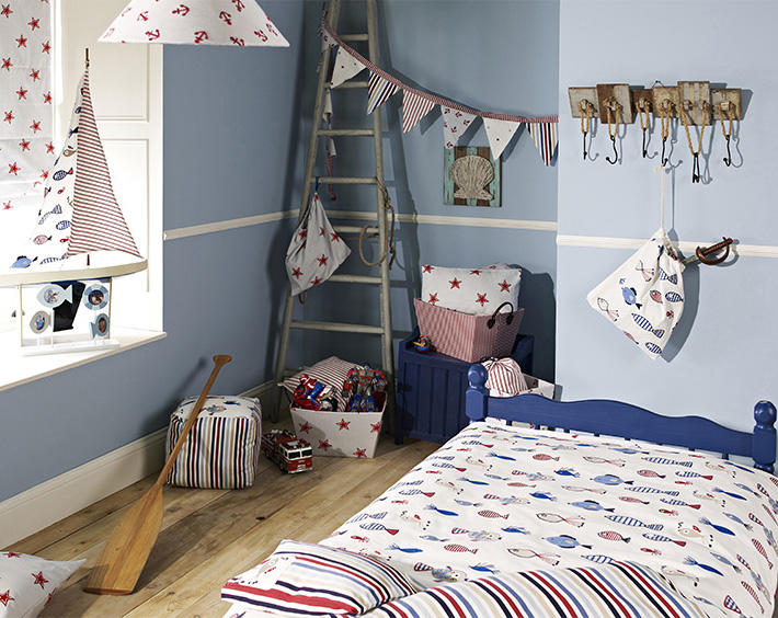 Шторы в детскую комнату для мальчика: фото с идеями