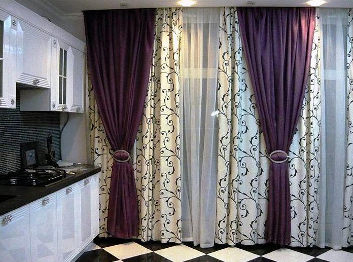 Шторы для кухни гостиной