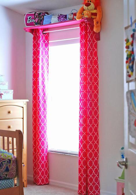 Розовые занавески в детскую для девочки