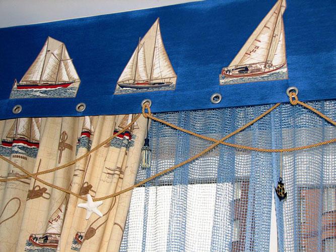 Морские шторы в комнату мальчика