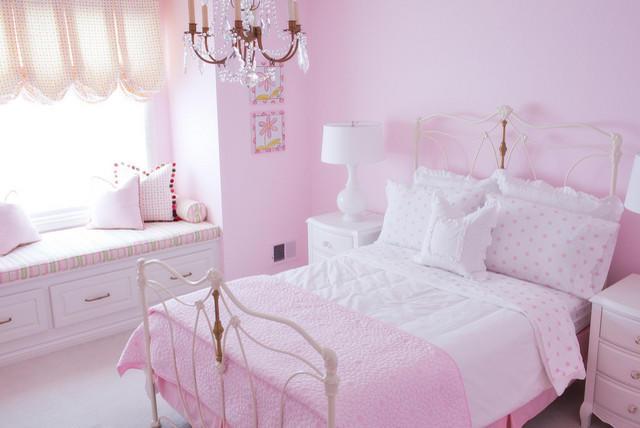 Римские шторы в спальню девочки
