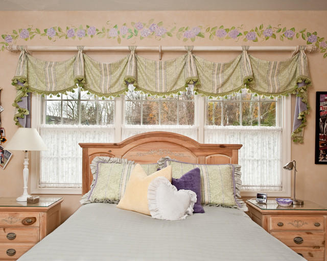 Занавески в стиле кафе для спальни девочки