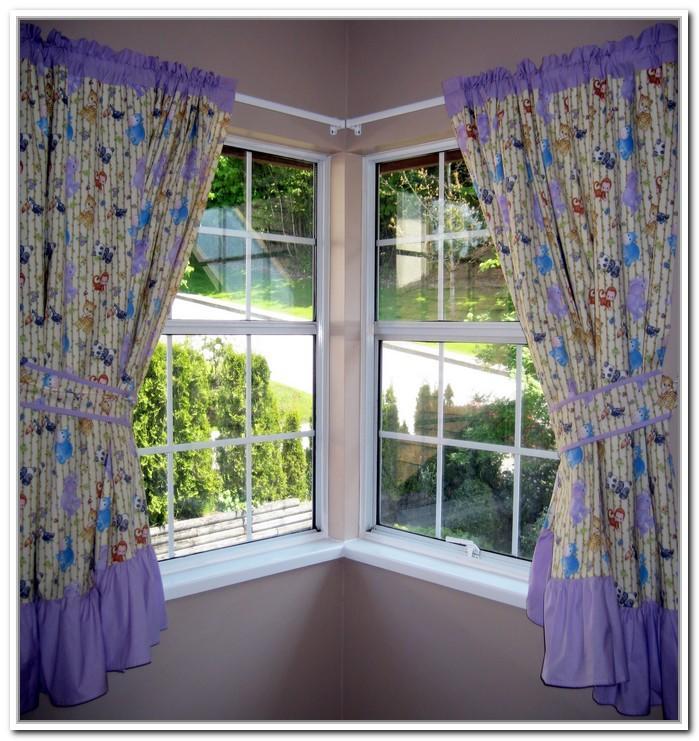 aleros de esquina para cortinas de la habitación