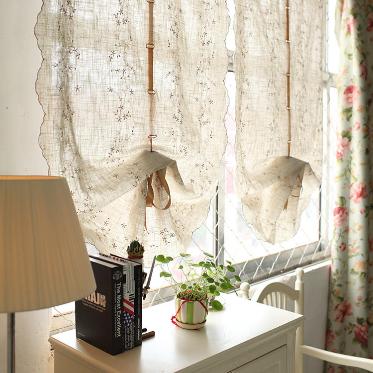 Австрийские занавески в спальню