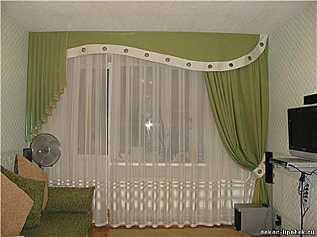 Шторы на окно с балконом фото в зал - помощь дизайнеру helpdizain.ru.