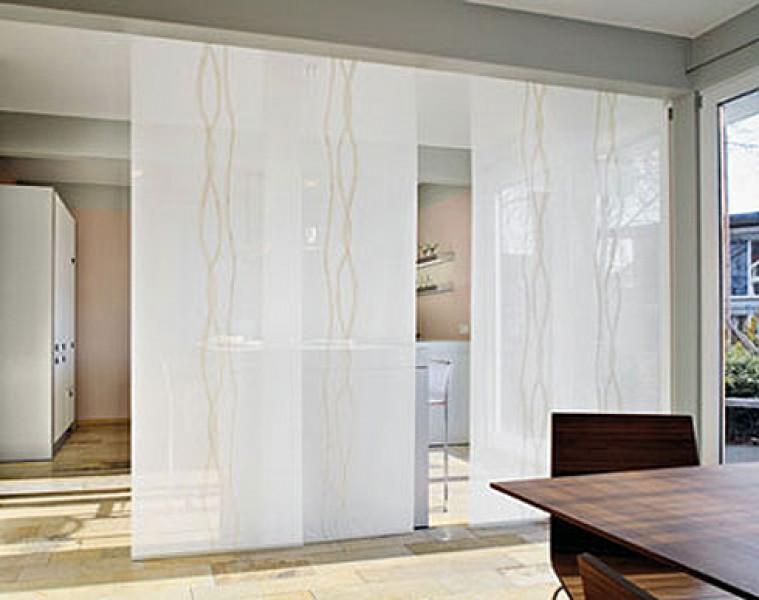 Японские шторы как перегородка