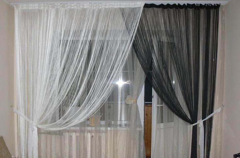шторы в гостиную с кисеей