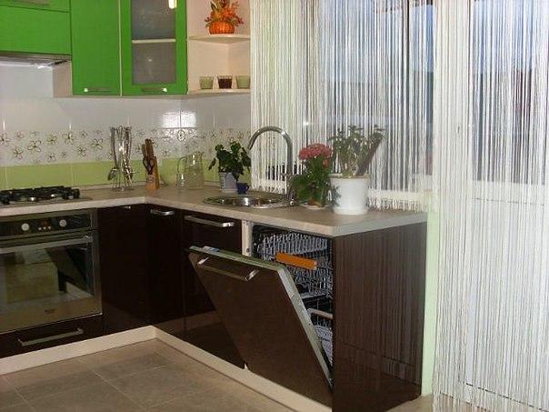 шторы нити фото на кухню
