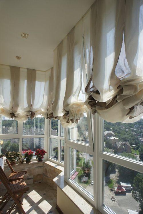 Шторы на панорамные окна