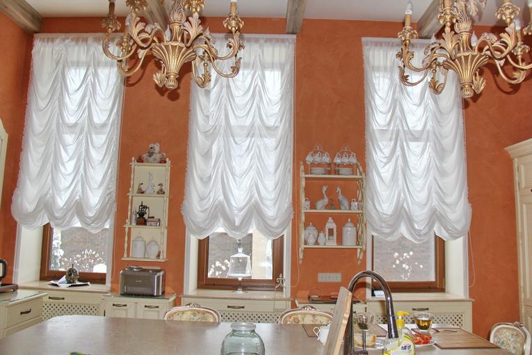 cortinas francesas en la cocina