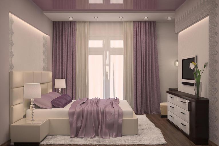 Какого цвета выбрать натяжной потолок в спальню