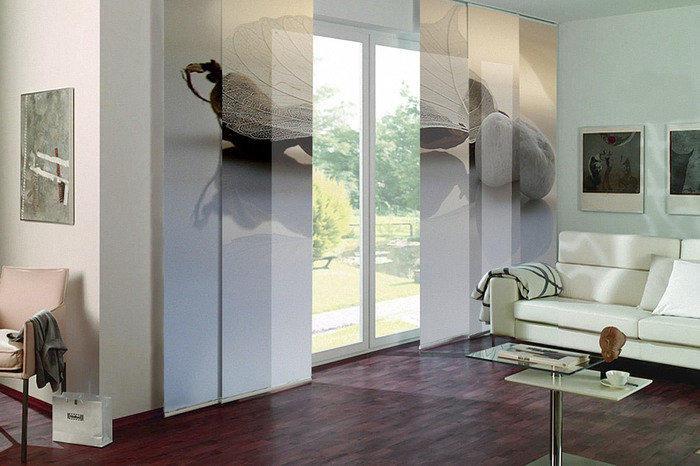 Японские шторы с 3d фотопечатью