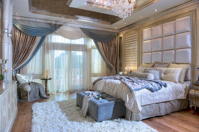 Шторы с ламбрекеном в спальню