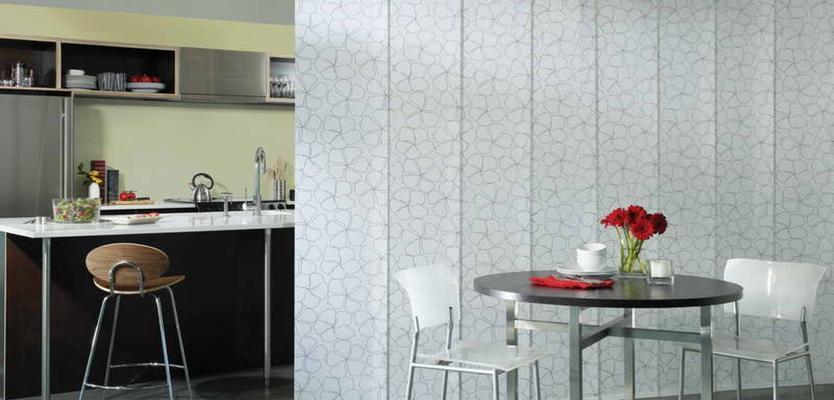 Японские шторы как перегородки для разделения комнаты