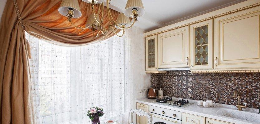 Дизайн занавески для кухни фото