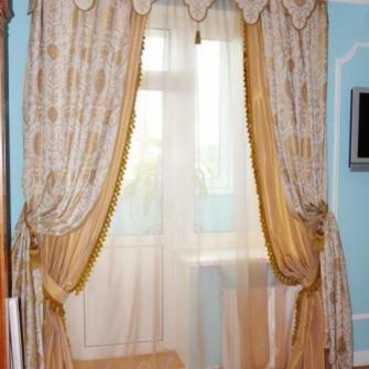 двойные шторы и тюль