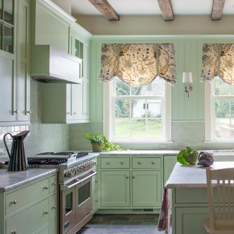 Занавески на кухню в стиле прованс