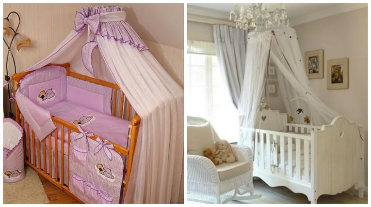 Балдахин на детскую кроватку (103 фото): как сшить и повесить балдахин на держатель над кроваткой