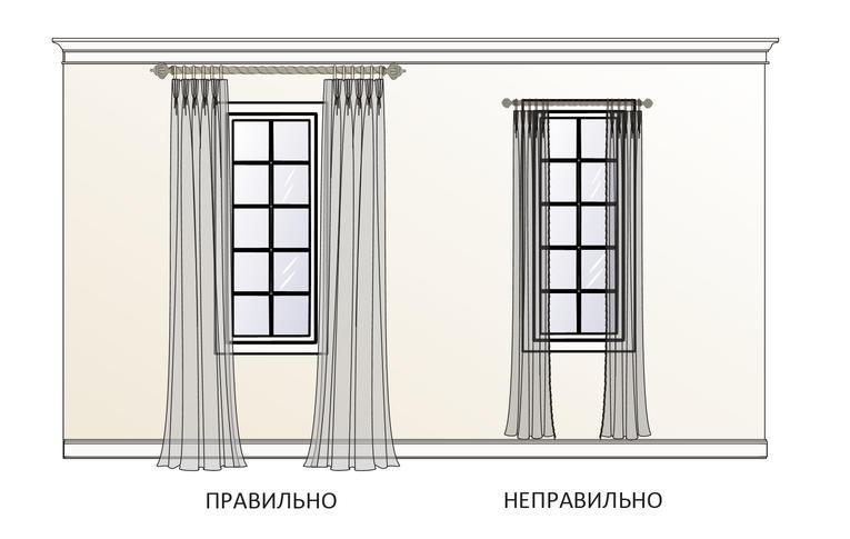 Шторы на высокие окна