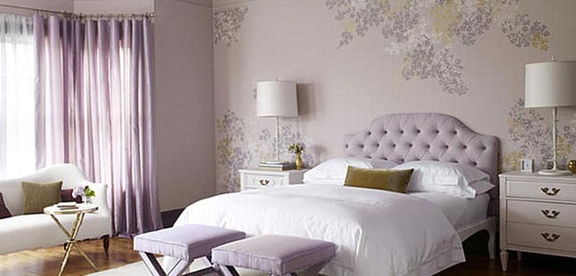 шторы к фиолетовым стенам