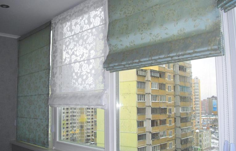 Римские шторы для балкона