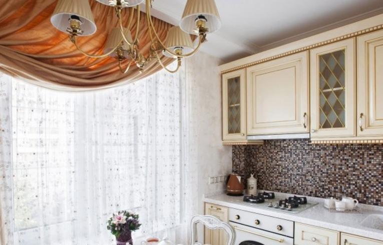 Шторы для кухни: фото новинок дизайна